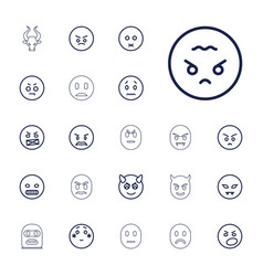 22 angry icons vector