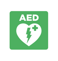 Aed sign vector
