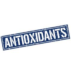 Antioxidants square grunge stamp vector