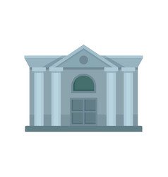 Architecture courthouse icon flat style vector