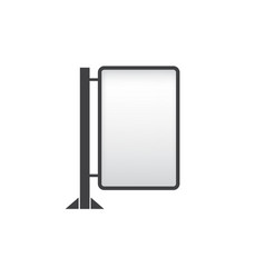 banner mockup on white background vector image