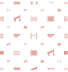 barrier icons pattern seamless white background vector image