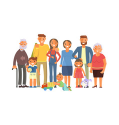 big family portrait vector image