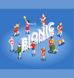 Bionic prosthesis isometric vector