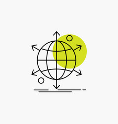 business international net network web line icon vector image