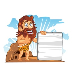 Cave Man Sign vector image