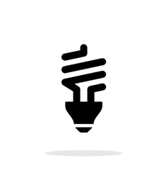 CFL bulb icon on white background vector image