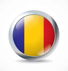 Chad flag button vector image