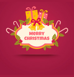 christmas gifts and candies vector image