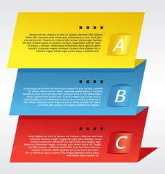 Colorful Three Step Banners vector image