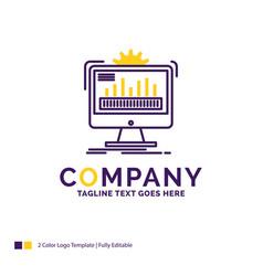 Company name logo design for dashboard admin vector