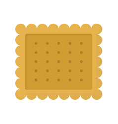 cookie colorful bakery product icon vector image