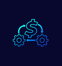 Cost optimization or expenses reduction icon vector
