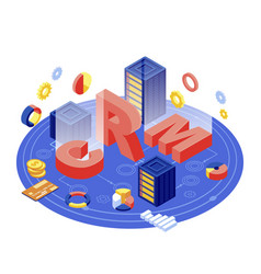 Crm server isometric customer relation vector
