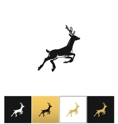 Deer silhouette or reindeer icon vector