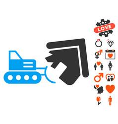 Demolition icon with valentine bonus vector