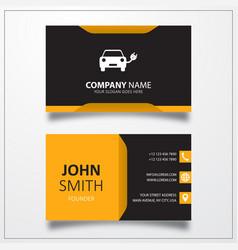 Eco car business card template vector