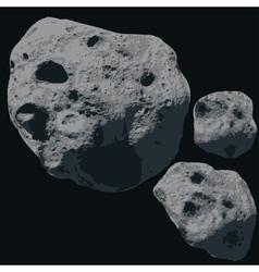 Falling Meteorite Asteroids vector image