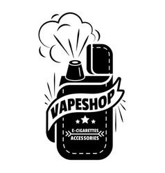 Fashion vape shop logo simple style vector