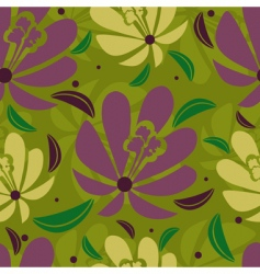 floral tropical pattern vector image