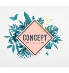 Frame floral concept blue vector image
