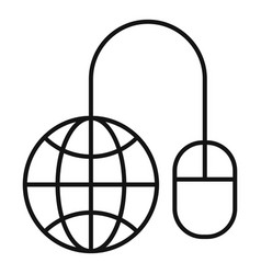 global web banking icon outline style vector image