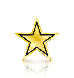 golden star on white background vector image vector image