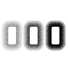 grunge spray stencil round frames gradient ink vector image