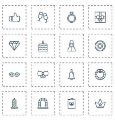 Happy icons set collection of fire wax vector