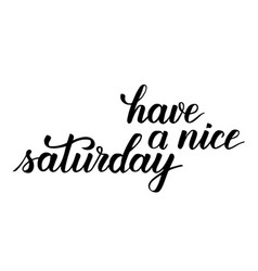 Have a nice saturday brush calligraphy vector