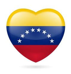 Heart icon of Venezuela vector