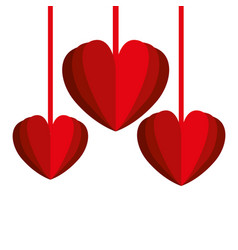 hearts love decorative hanging vector image