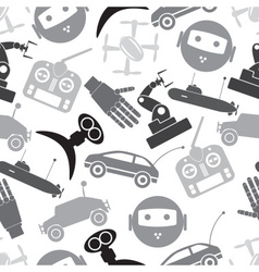 hi-tech modern technology toys simple icons vector image