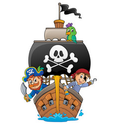 Image with pirate vessel theme 4 vector