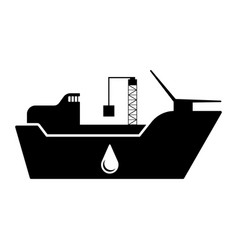 isolated oil transportation ship vector image
