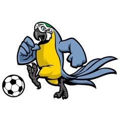 Macaw bird soccer mascot vector