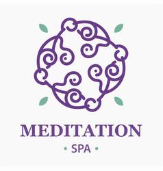 meditation spa logo vector image