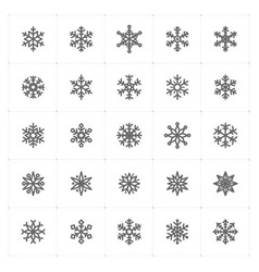 Mini icon set snowflake icon vector