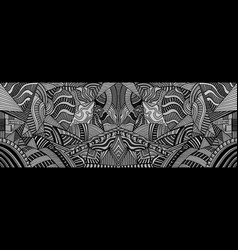 Mirror monochrome psychedelic background with many vector