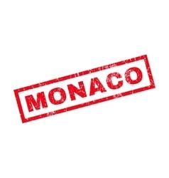 Monaco Rubber Stamp vector