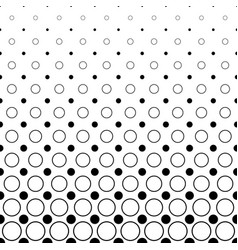 Monochrome circle pattern - abstract geometrical vector