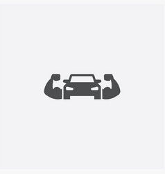 Muscle car icon vector