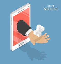 online medicine flat isometric concept vector image