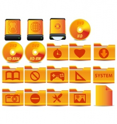 operational system icons vector image