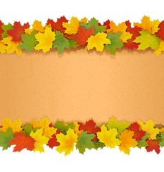 Paper Border with Maple Leaves vector image