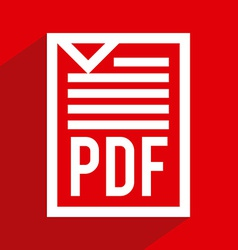 Pdf file design vector