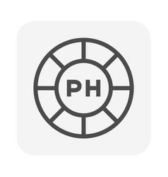 Ph scale icon vector