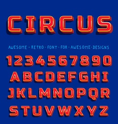 Retro Shiny Font with shadow vector