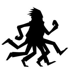 Runner legs silhouette vector