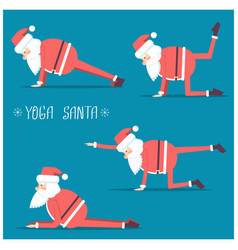 santa claus doing yoga isolated for vector image